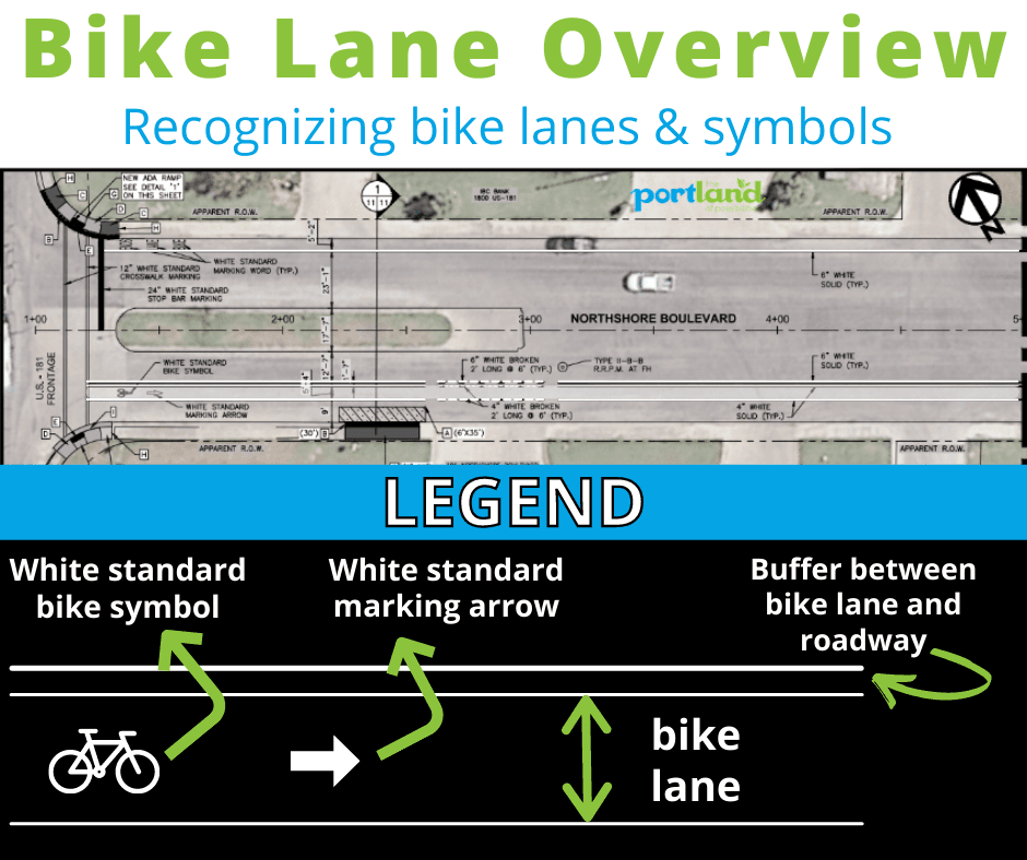 Bike lane legend