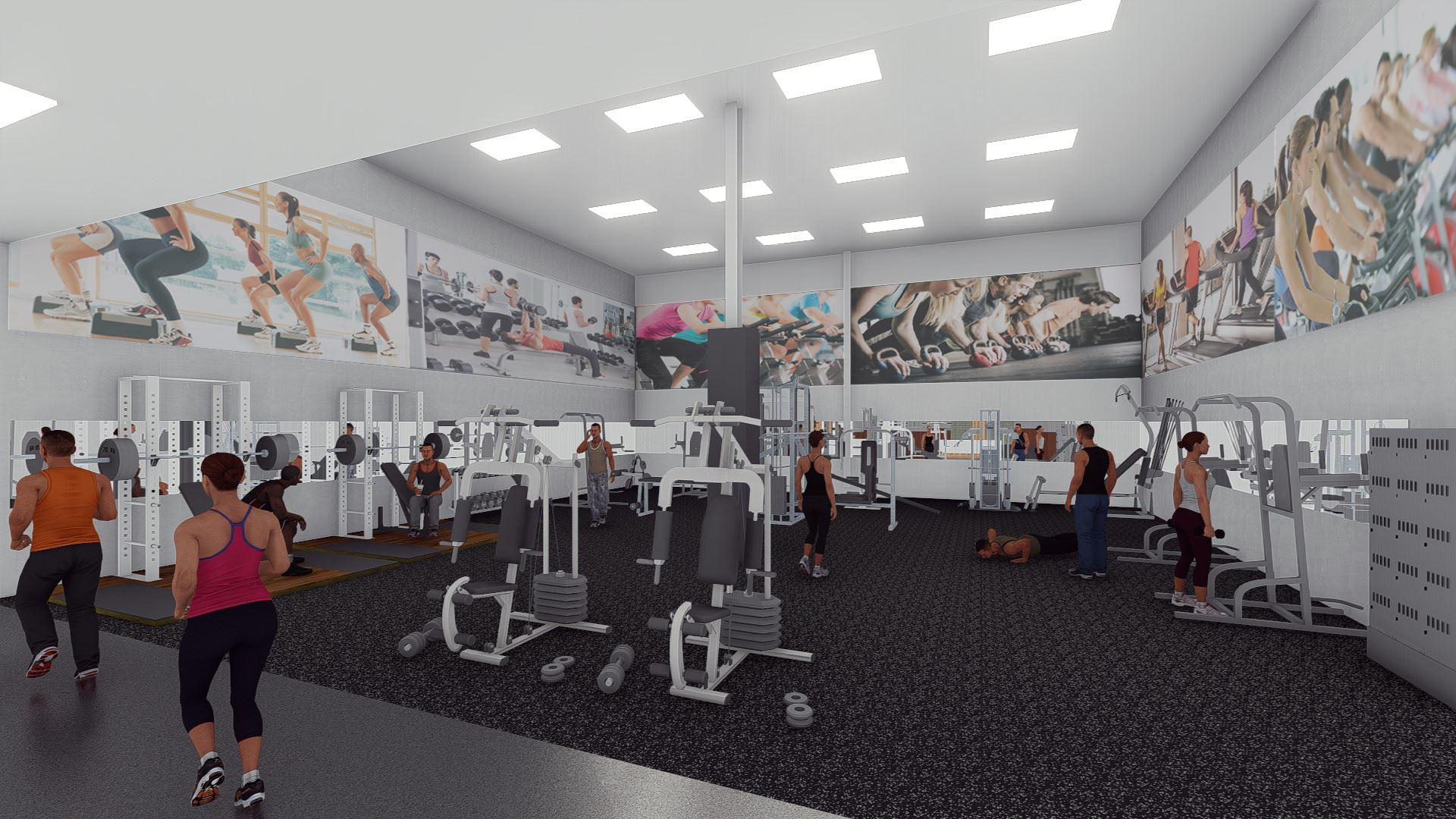 Weightroom rendering