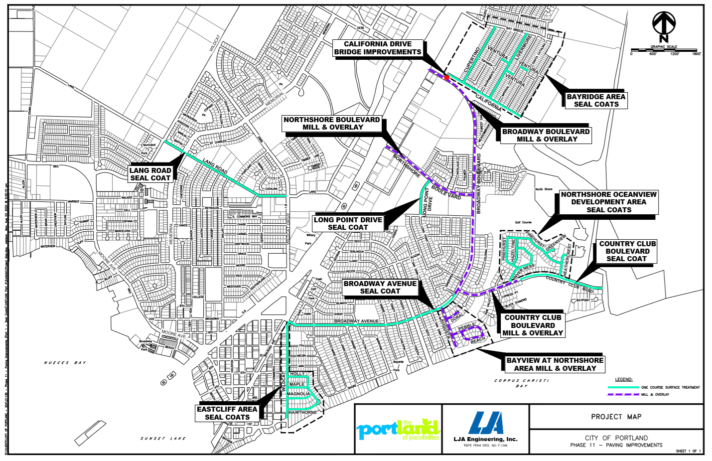 Project map - Phase 11 Paving Improvements